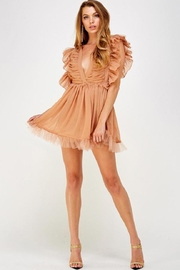 Mable Mesh Ruffle Romper - Product Mini Image