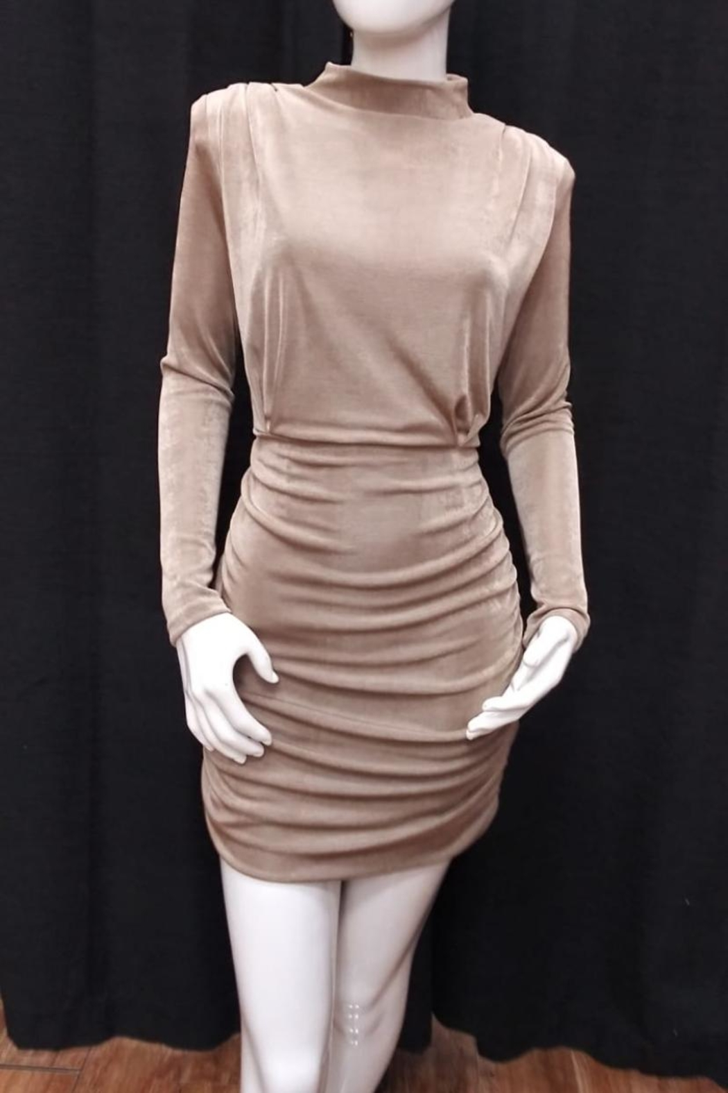 Mable Mock Neck Dress - Main Image