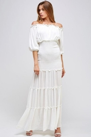Mable Off-Shoulder Smocked Maxi - Product Mini Image