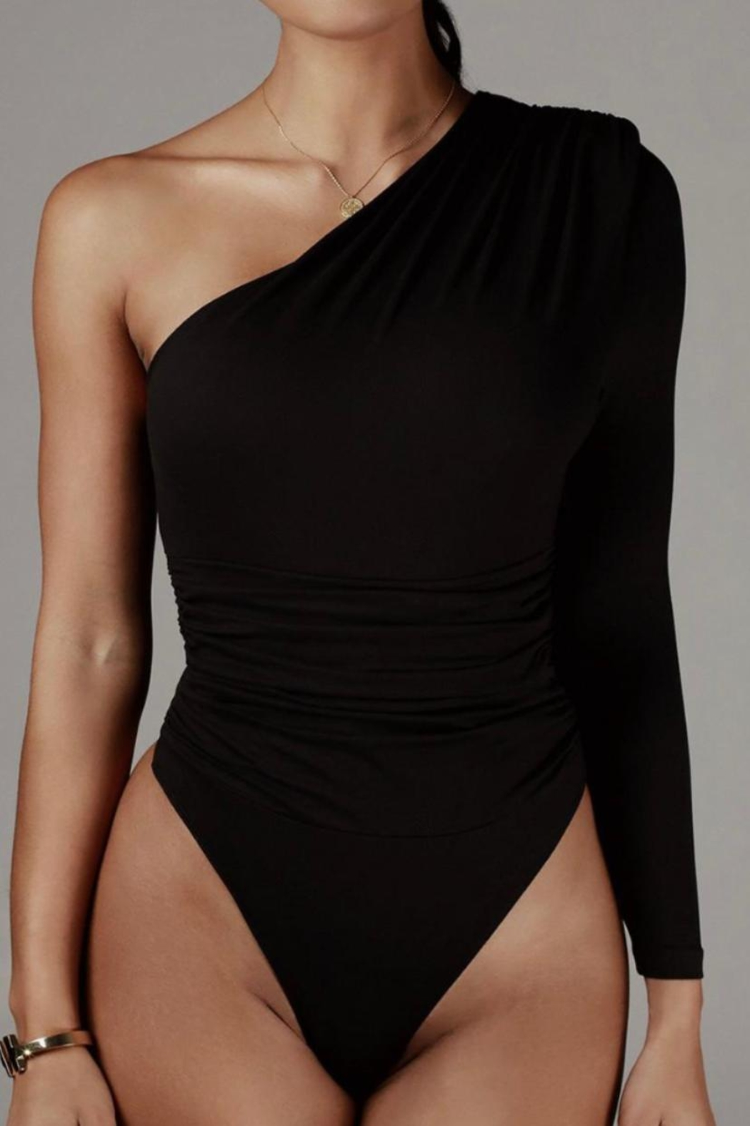Mable One Shoulder Bodysuit - Main Image