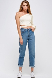 Mable One-Shoulder Sweater Top - Product Mini Image