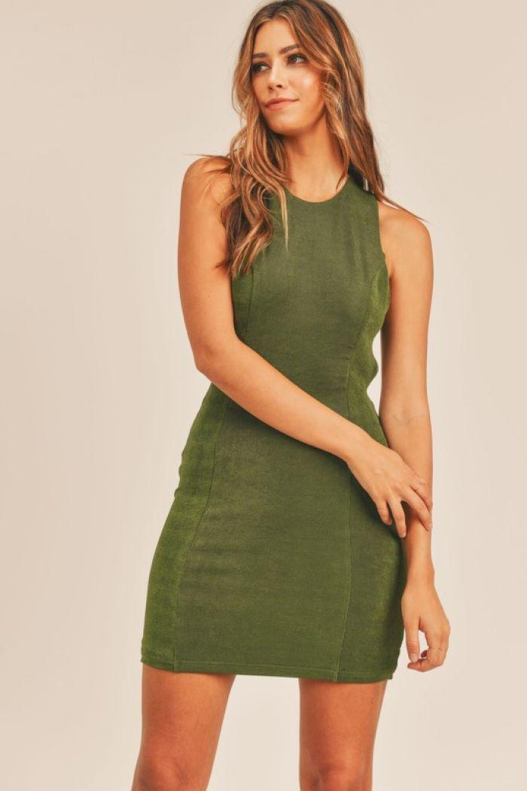 Mable Open Back Bodycon Dress - Back Cropped Image