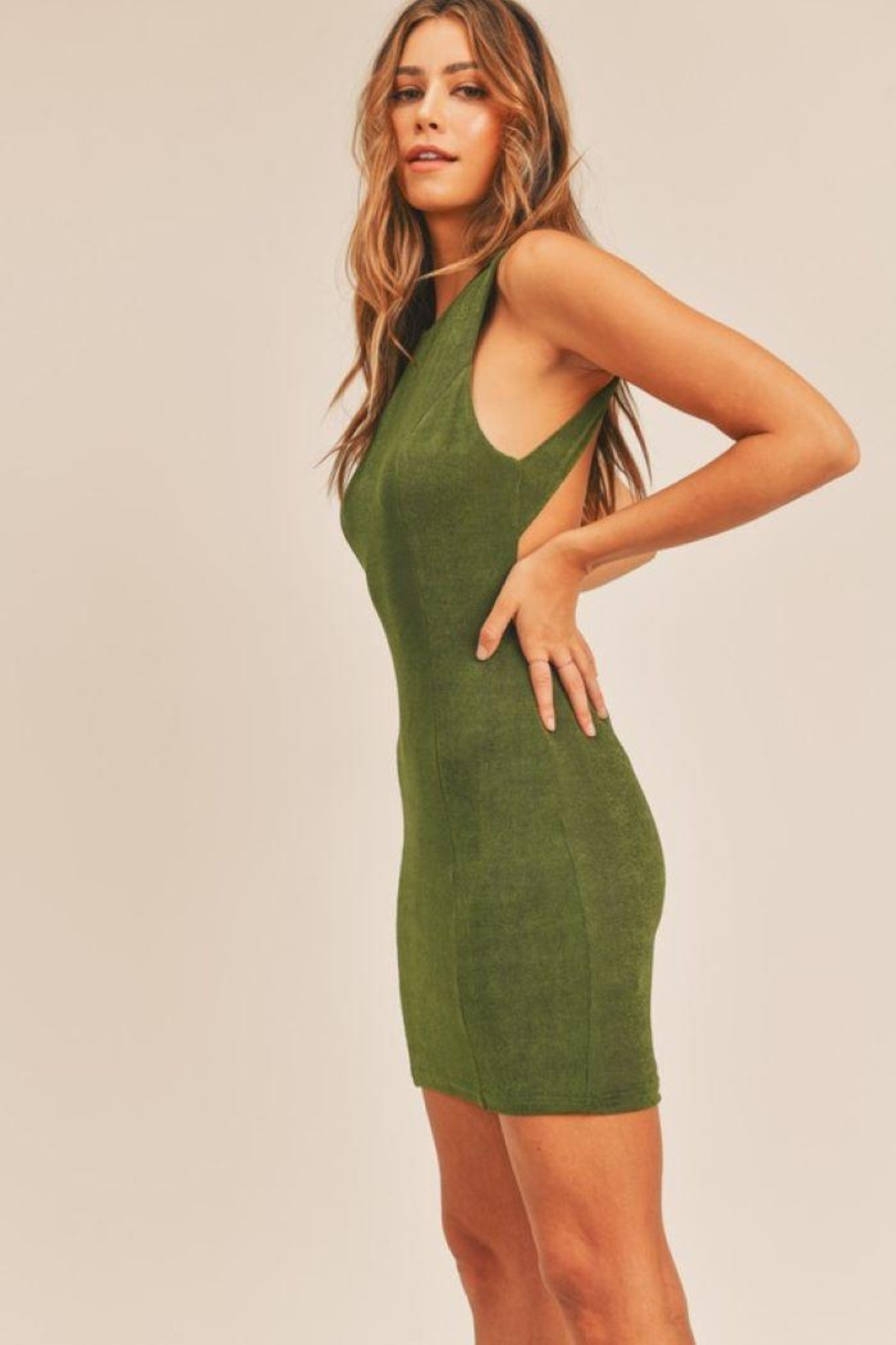 Mable Open Back Bodycon Dress - Side Cropped Image