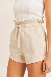 Mable Paperbag Drawstring Shorts - Front full body