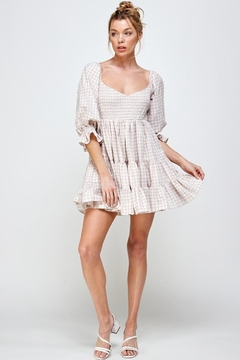 Mable Pink Plaid Dress - Product List Image