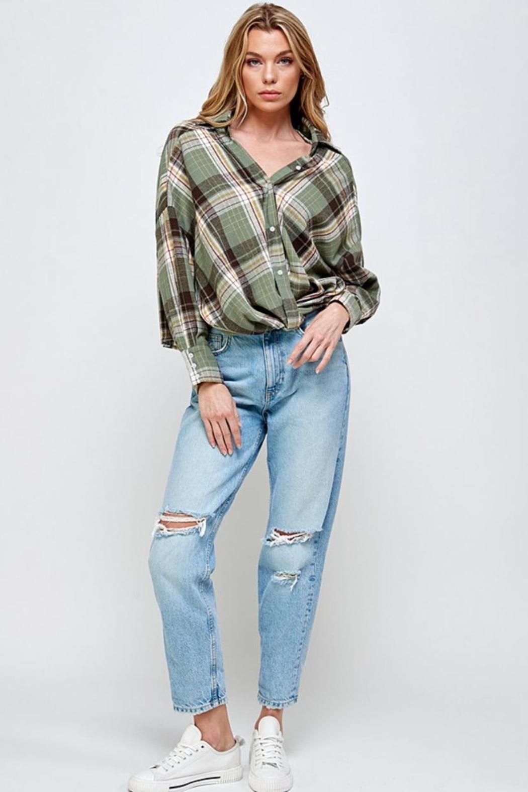 Mable Plaid Top - Main Image