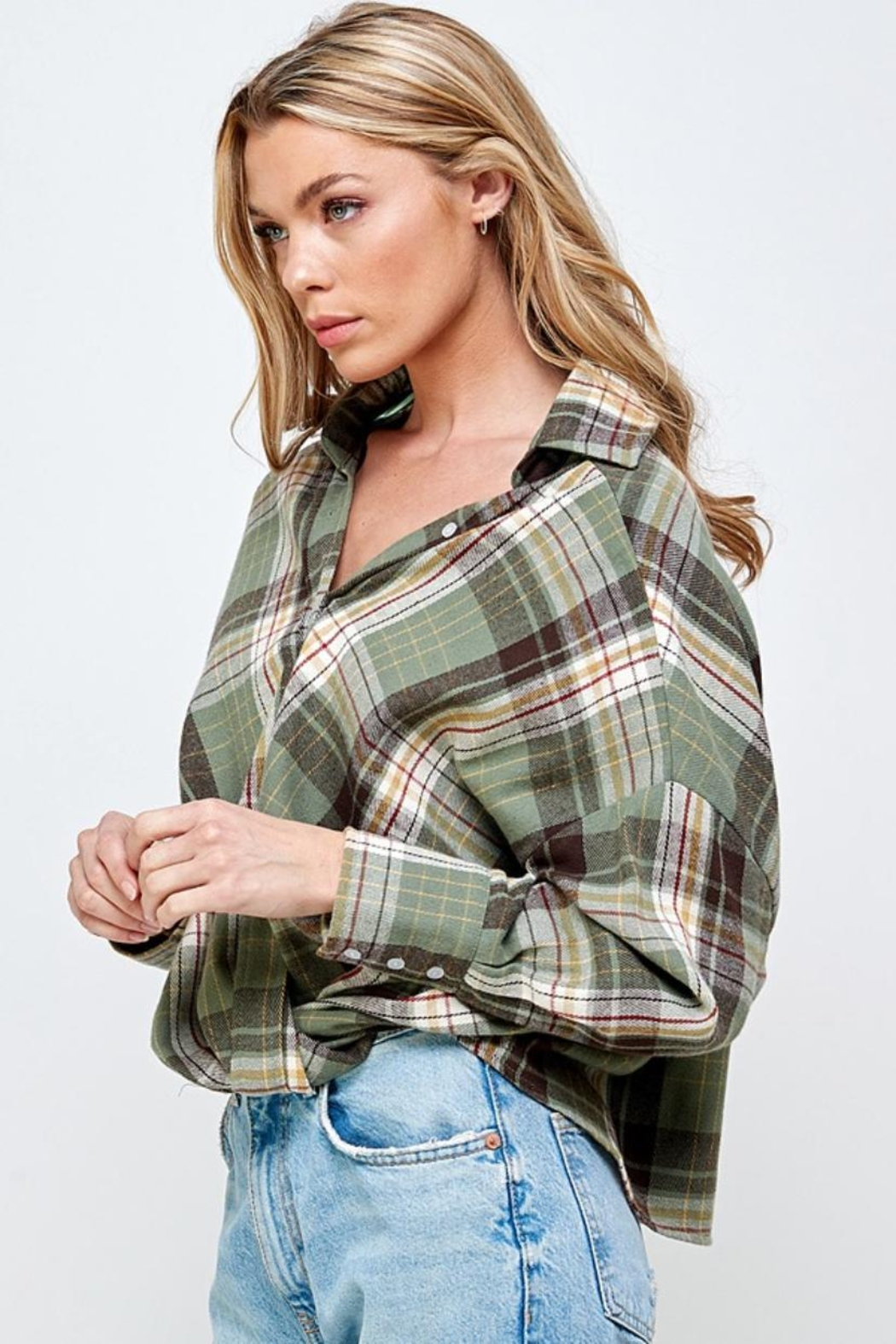 Mable Plaid Top - Front Full Image