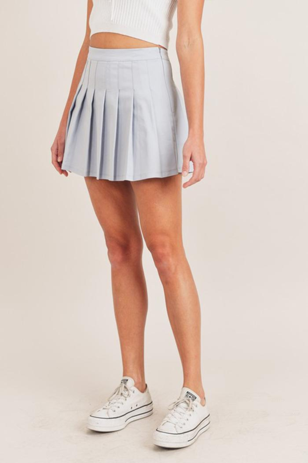 Mable Pleated Tennis Skirt - Front Full Image