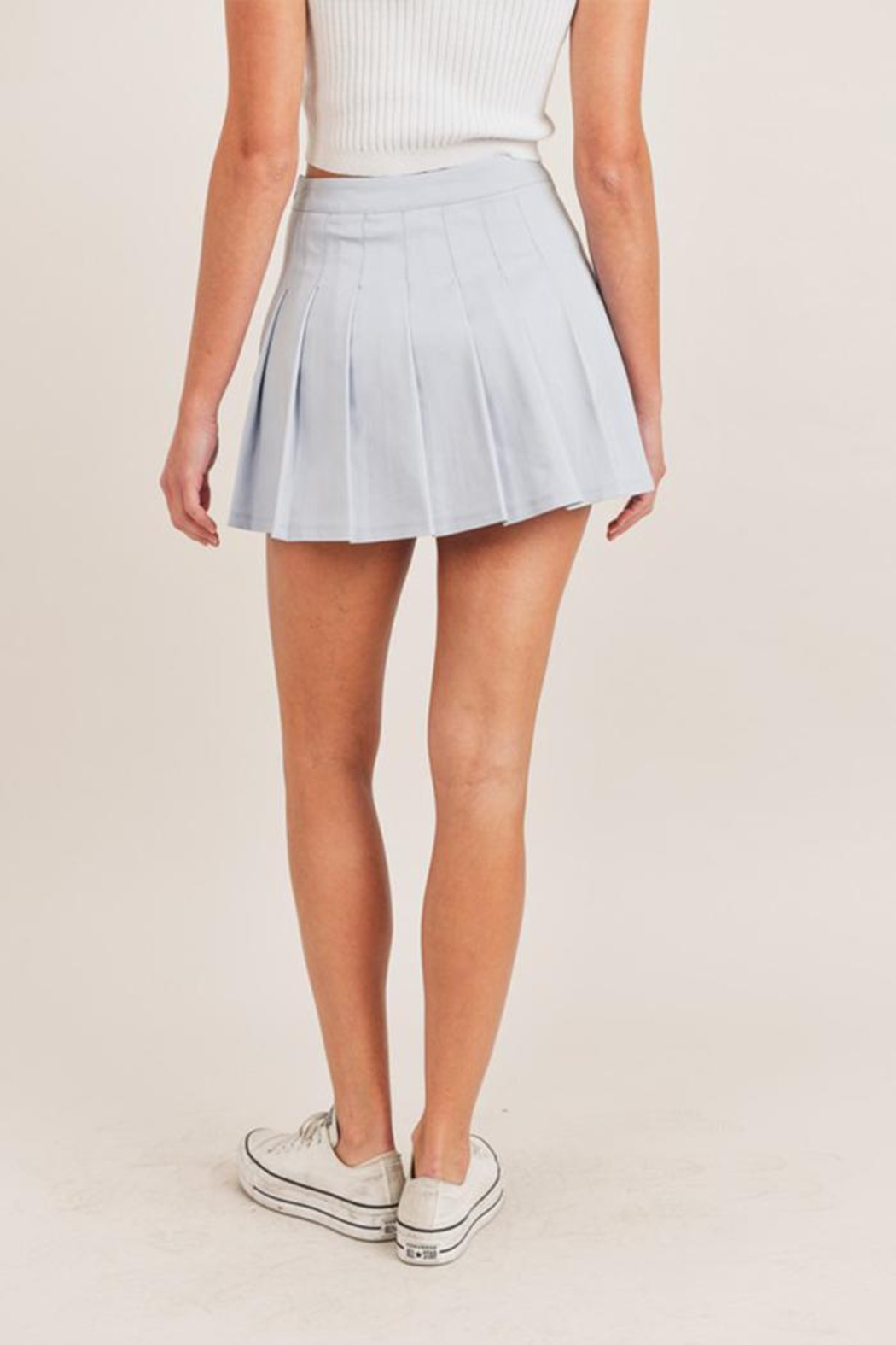 Mable Pleated Tennis Skirt - Back Cropped Image