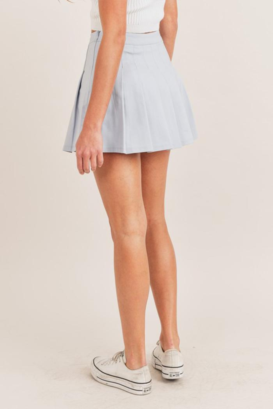 Mable Pleated Tennis Skirt - Side Cropped Image
