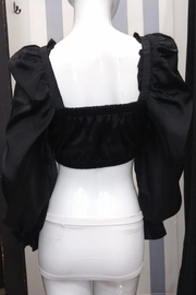 Mable Puff Shoulder Crop-Top - Front full body