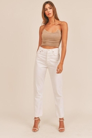 Mable Ruched Fitted Crop Top - Side cropped