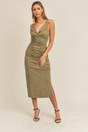 Mable Ruched Side Dress - Front cropped