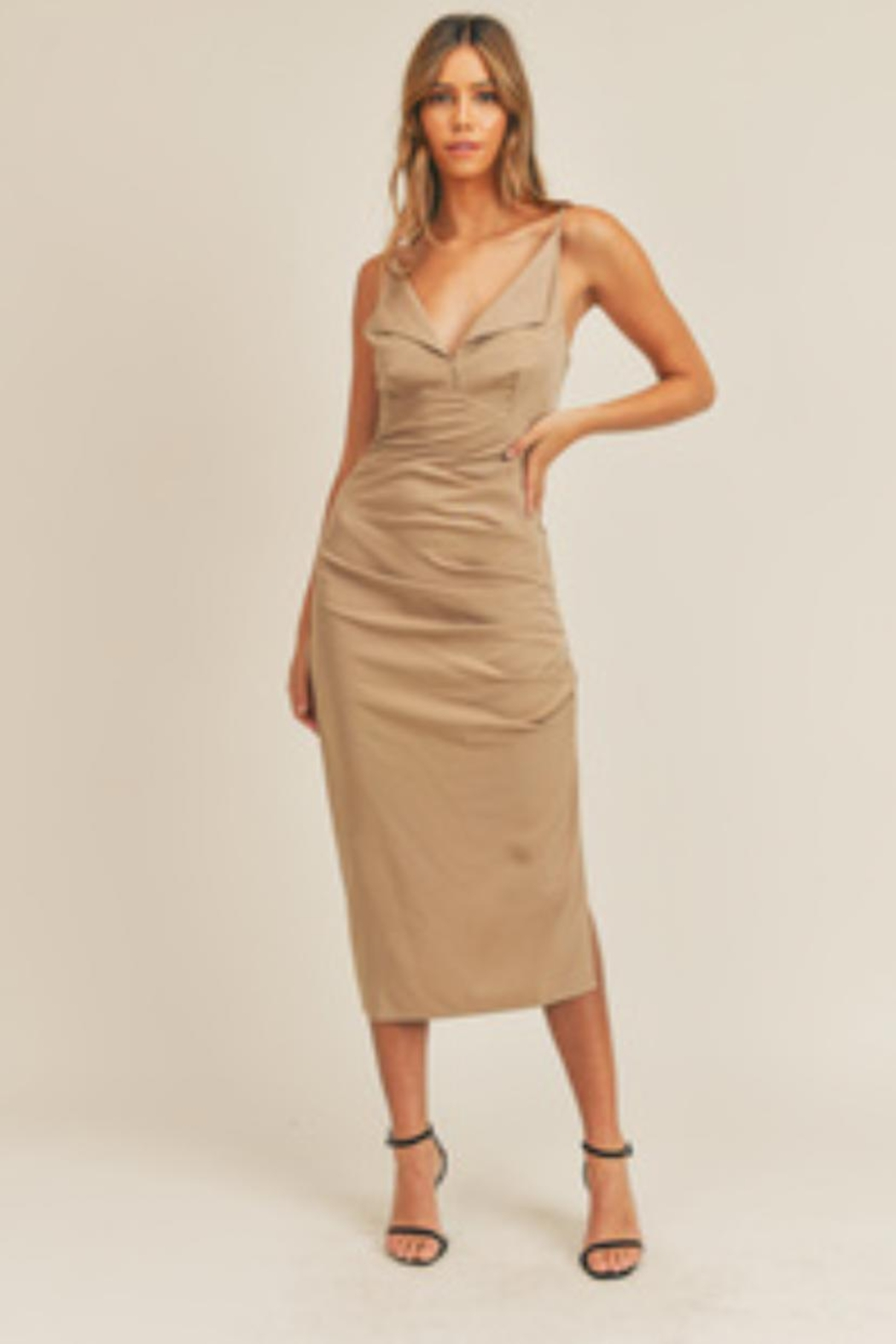 Mable Ruched Side Dress - Main Image