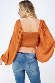 Mable Satin Drawstring Top - Back cropped