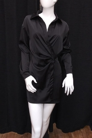 Mable Satin Shirt Dress - Product Mini Image