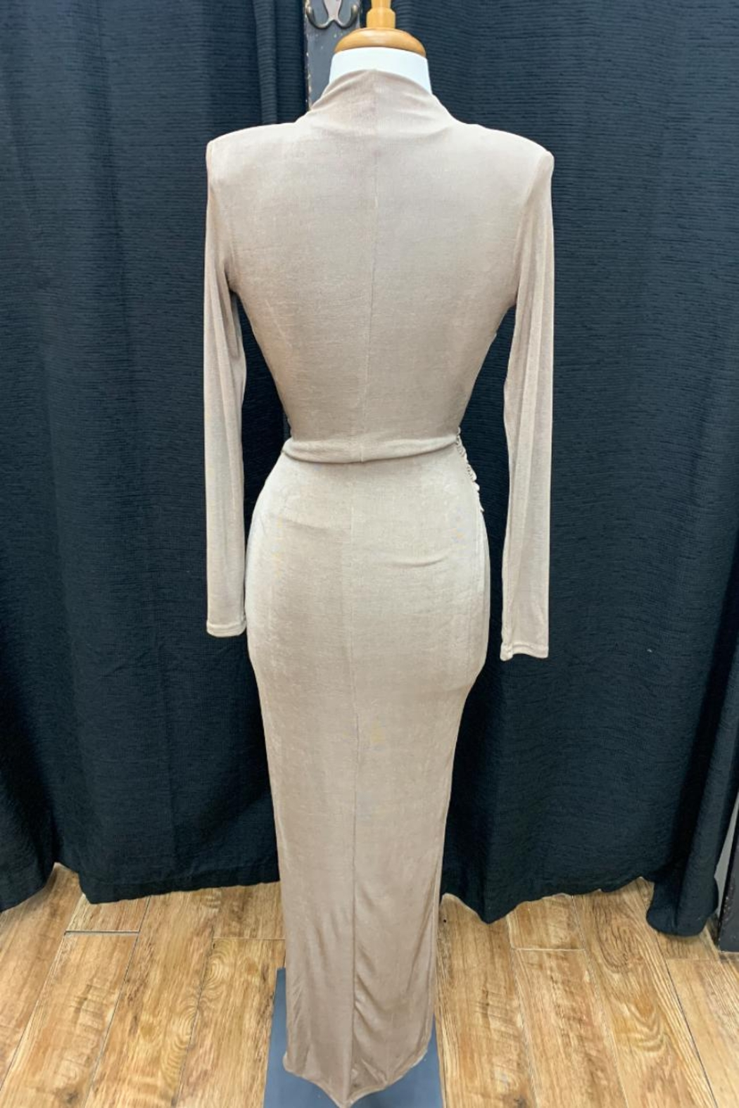 Mable Shirred Hip Dress - Front Full Image