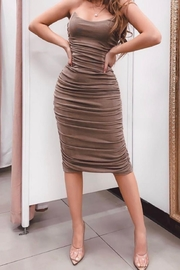 Mable Shirring Tube Dress - Front cropped