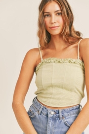 Mable Smocked Back Crop Top - Front cropped