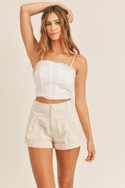 Mable Smocked Back Crop Top - Front full body
