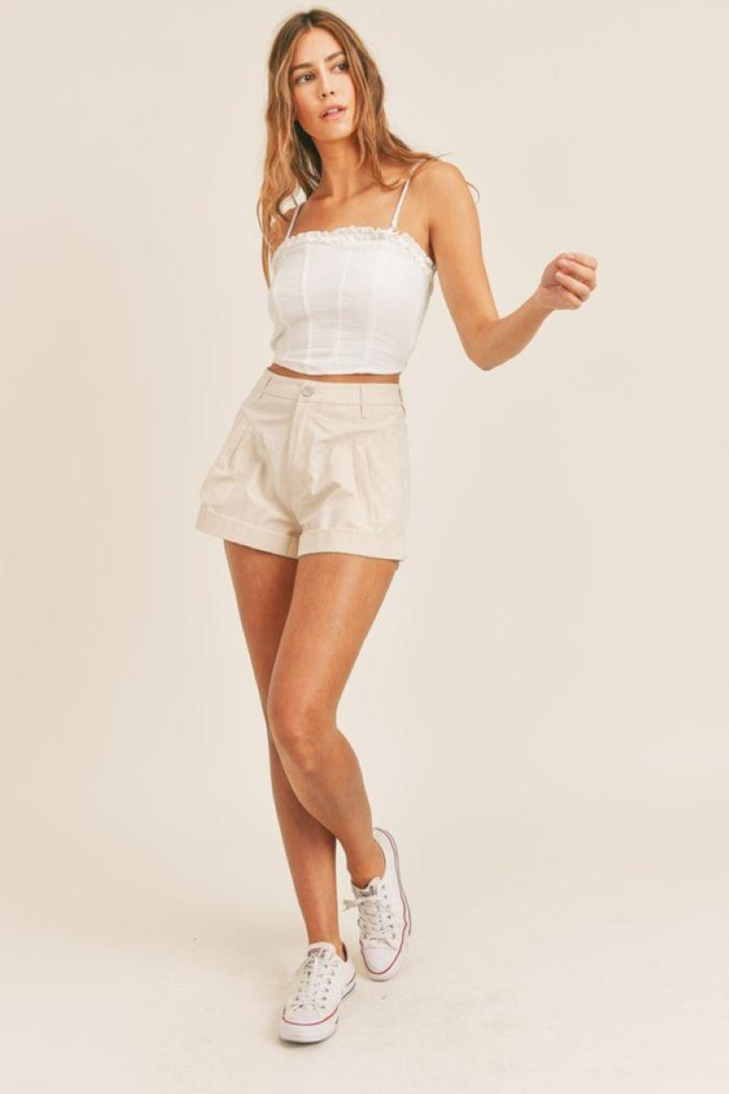 Mable Smocked Back Crop Top - Side Cropped Image