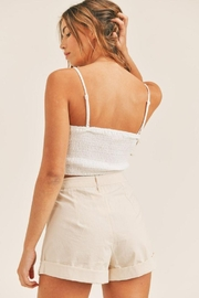 Mable Smocked Back Crop Top - Back cropped