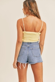 Mable Smocked Back Crop Top - Side cropped
