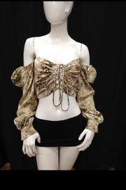 Mable Snake Print Crop-Top - Front full body