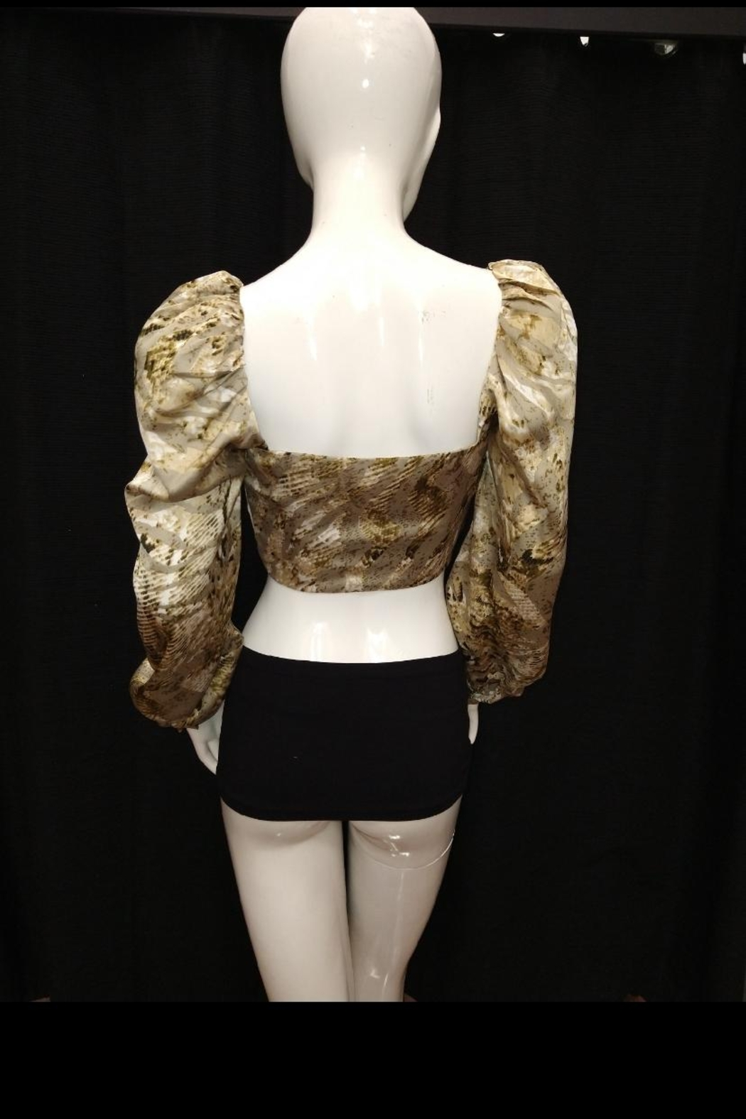 Mable Snake Print Crop-Top - Side Cropped Image