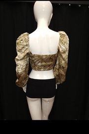 Mable Snake Print Crop-Top - Side cropped