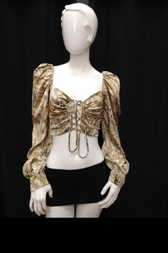 Mable Snake Print Crop-Top - Product List Image