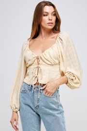 Mable Tie Front Top - Side cropped