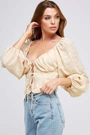 Mable Tie Front Top - Back cropped