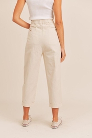 Mable Unbalance Button Cropped Pants - Front full body