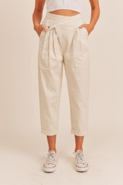 Mable Unbalance Button Cropped Pants - Other