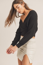 Mable Wide-Shoulder Sweater Top - Side cropped