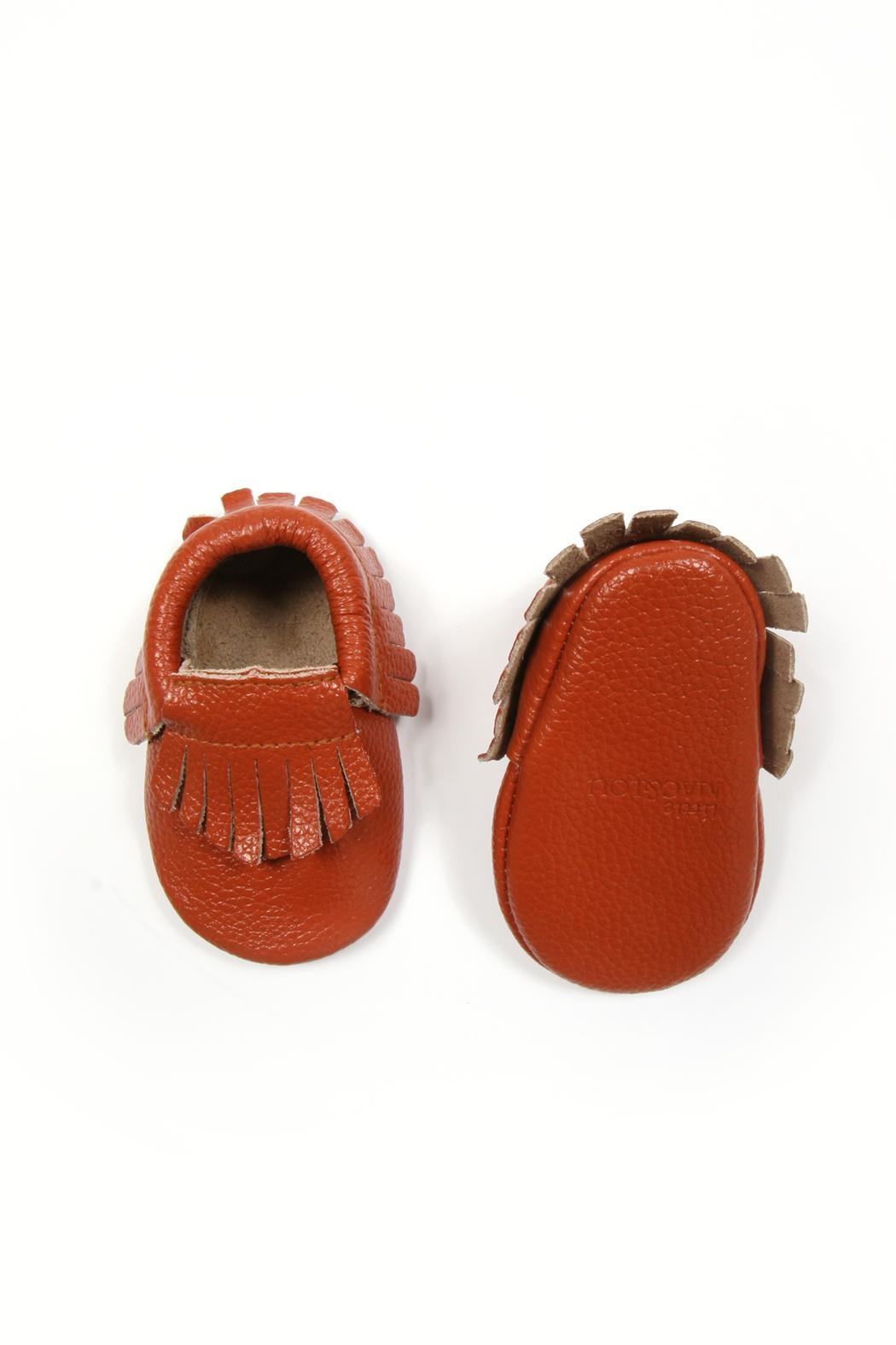 Mac & Lou Leather Fringe Moccasins - Side Cropped Image