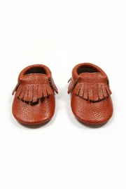 Mac & Lou Leather Fringe Moccasins - Front full body