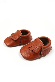Mac & Lou Leather Fringe Moccasins - Front cropped