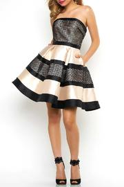 Mac Duggal Diamond Checker Dress - Product Mini Image
