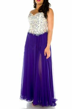 Shoptiques Product: Strapless Lace Up Gown
