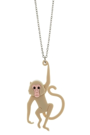 Little Moose Macaque Pendant Necklace - Product Mini Image