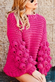 Macaron Pink Pom Sweater - Product Mini Image