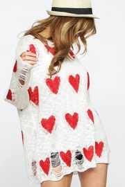 Macaron Valentines Heart Sweater - Front cropped