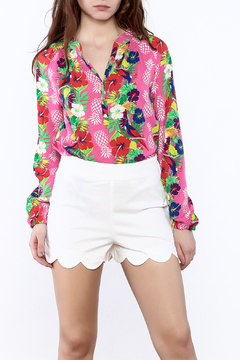 Macbeth Collection Tropical Pineapple Blouse - Product List Image
