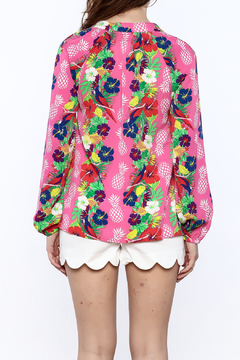 Macbeth Collection Tropical Pineapple Blouse - Alternate List Image
