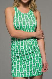 Macbeth Collection Printed Rouched Dress - Product Mini Image