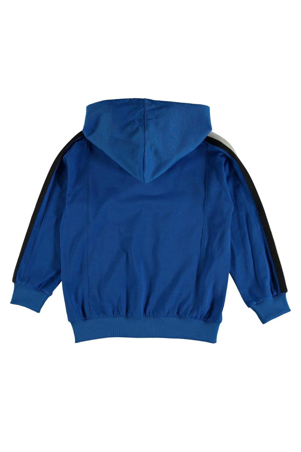 Molo Maccan Blue Hoodie - Side Cropped Image