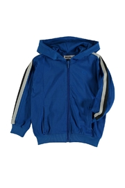 Molo Maccan Blue Hoodie - Front full body