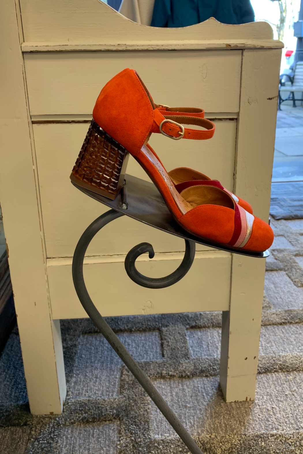 Chie Mihara Mace slingback with lucite heel - Front Full Image
